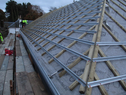 how to set out battens for a slate roof